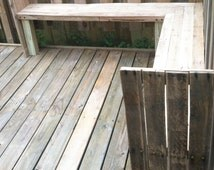 Pallet Bench / Outdoor Bench / Salvaged Wood Bench / Repurposed Wood / Rustic Wood / Rustic bench