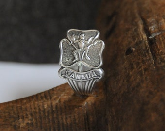 brownie ring , elf ring, girl guide ring, canada ring, spoon ring