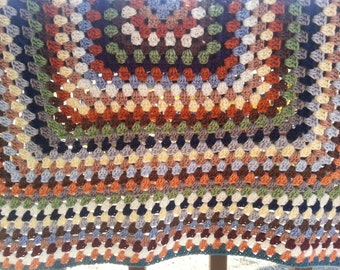 Earth Tones Granny Baby Blanket
