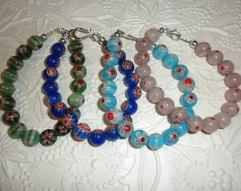 MILLEFIORI GLASS BEAD bracelet