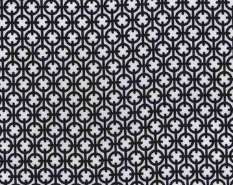 Quilting cotton fabric by the yard, black white fabric, small print 100% premium cotton by Paula Prass. Need more fabric yardage? Just ask.