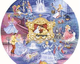 Princess Cinderella #2. Cross Stitch Pattern. PDF Files.