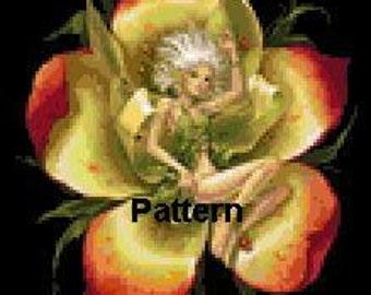 Flower Fairy. Cross Stitch Pattern. PDF Files.