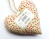 Flower Girl Gift - Personalised Fabric Heart Produced in Your Choice of Fabric - Supplied Gift Boxed. Lovely Wedding Party Thank You Gift