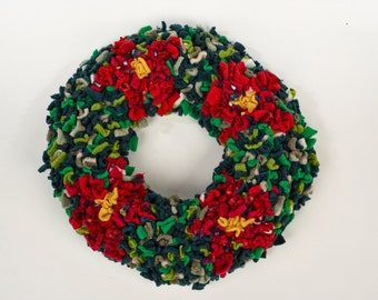 Proggy® Christmas Wreath Rag Rug Kit
