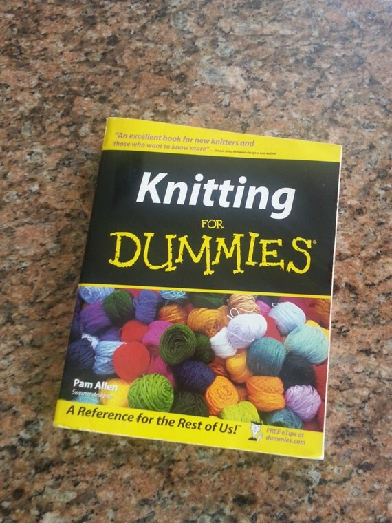Knitting For Dummies Book : Knitting for dummies book by kraftybees on etsy