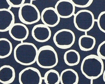 Premier Prints Fabric-FREEHAND-Designer Fabric- Navy Slub OR Corn Yellow-Decorator Fabric By The Yard