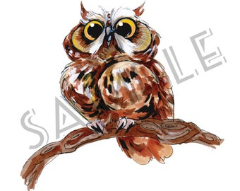Little Owl Series - Percy print (2 of 3)