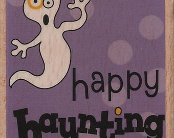 Studio G HAPPY HAUNTING Halloween Rubber Stamp