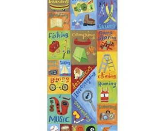 K & Company Donna Ingemanson Rough and Tumble ACTIVITIES Embossed Stickers