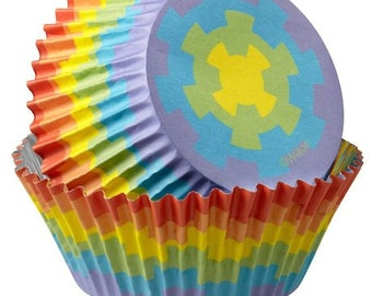 Rainbow ColorCups Wilton Greaseproof Cupcake Liners Baking Cups Muffin Cups - rainbow cupcake liners