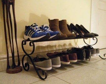 wrought iron shoe rack (90cm version)