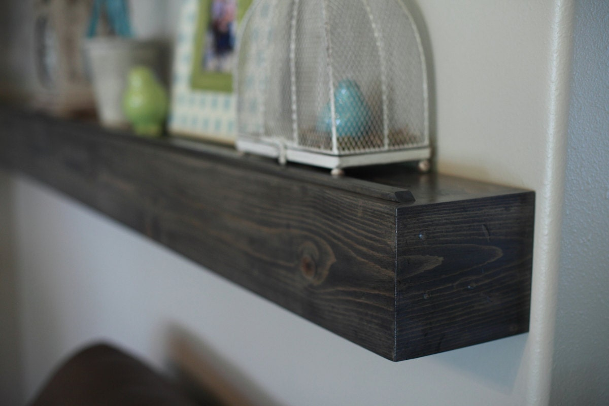fireplace mantle wood wall shelf gray stained beam style in