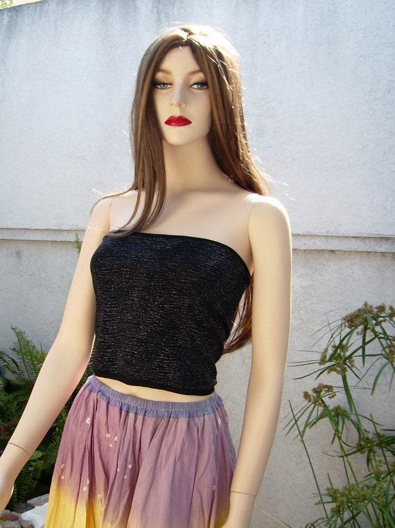 Black Tube Top Summer Women Beach Sleeveless Top By Girlishgirl-4182