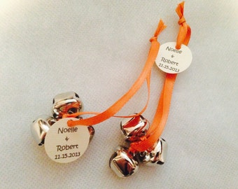 Wedding Favors, Wedding Bells for Guests to Celebrate the Newlyweds, Custom made, any color, sets of 10