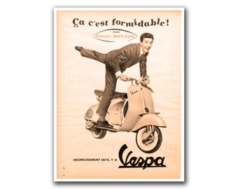 Retro Poster Art Scooter Home Decor Vintage Print (H263)