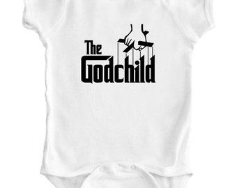 THE GODFATHER - Godchild Baby Romper / Creeper / Bodysuit / Snapsuit / Vest / One piece / Shirt / Baby Shower