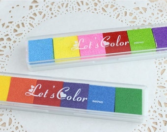 DIY Long Multicolor Craft Stamp Ink Pads