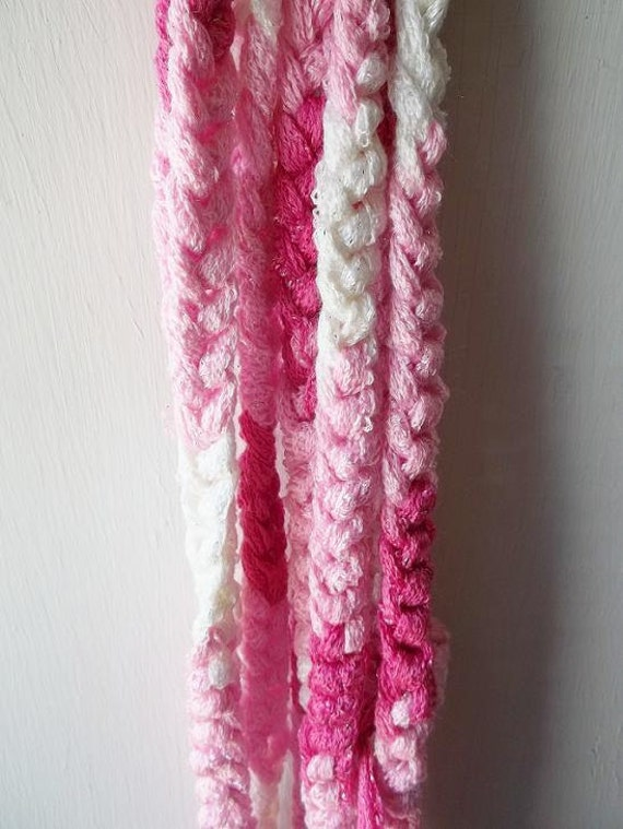 Crocheting Using Your Arms : Arm Crochet/ Knitted Scarf, Infinity, Cowl, Tutu, Pinks, Fashionable ...