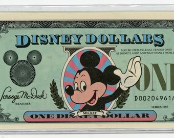"""One Disney One Dollar 1989.  """"D"""" issue. Mint Condition  149a. D-Dollars to end in 2015"""