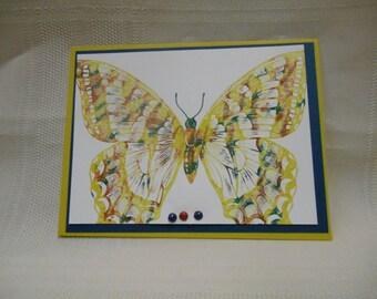Tie DIe Butterfly card