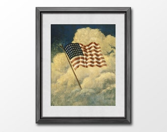Popular items for us flag on etsy for Painted american flag wall art