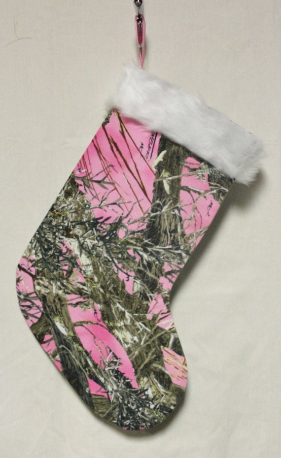 Items similar to Pink Camo Christmas Stocking on Etsy
