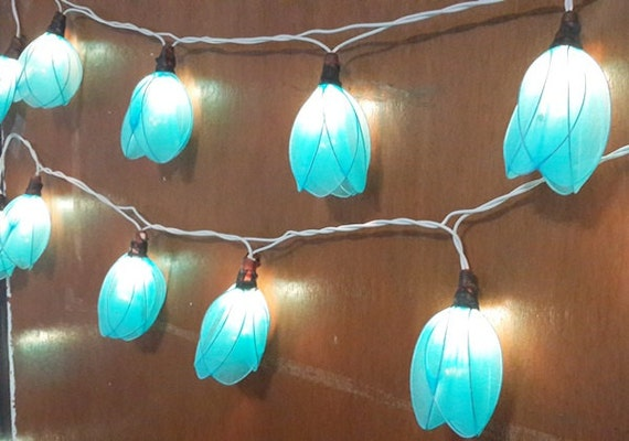 Blue String Lights For Bedroom : tulip blue cute nice string lights 20 flowers gift party