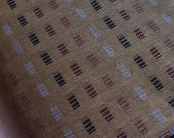 Half yard- Japanese Thick Cotton- Yarn Dyed in Brown