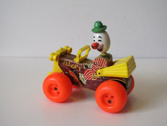 Fisher price clown jalopy car pull toy by bombshellbevsvintage for Clown fish price