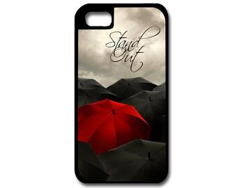 Red Umbrella Phone Case, iPhone Case, Custom Phone Case, Personalized Phone Case, Umbrella