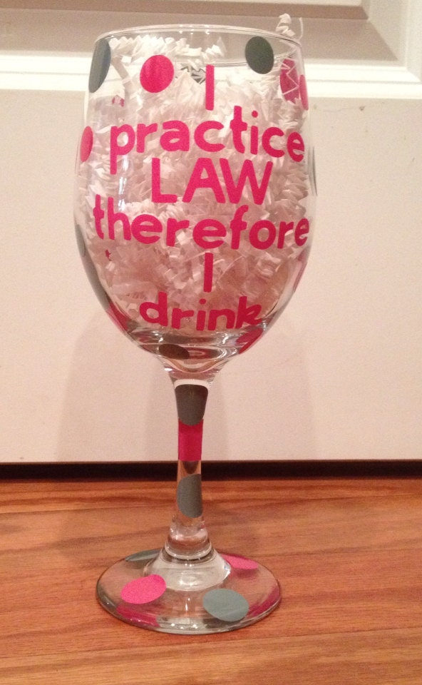 Funny Wine Glasses Lawyer Gift Personalized Wine By
