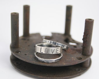 Knuckle Sterling Silver Stacking Ring Set