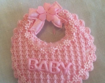 Baby Bib Pin Favors for Christening or Baby Shower