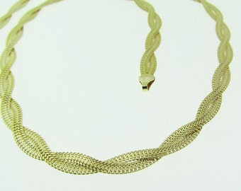 """Made in Italy gold braided necklace. 17"""" long."""