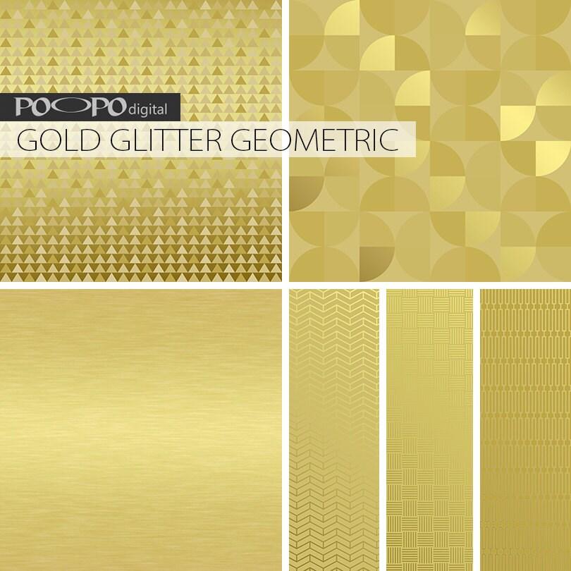 Gold metallic textures digital paper geometric golden