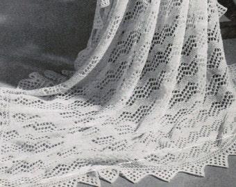 Vandyke Lace Knitting Pattern : Shetland Isles Shawl with VanDyke Lace Border Vintage ...