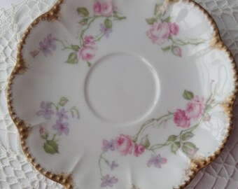 Limoges saucer / plate by Havilland and Co. France