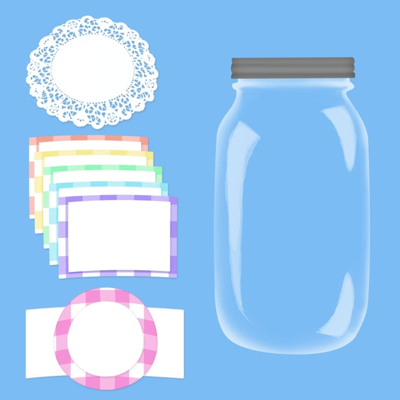 how to make clear labels for jars