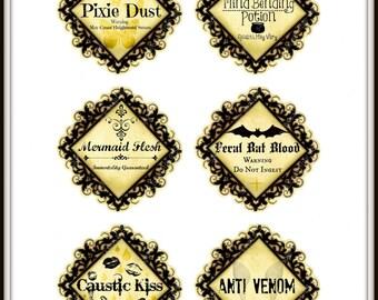 Digital Potion Labels. Halloween Labels. Instant Download