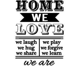 In this home Decal