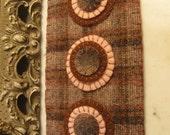 Pink & Brown Penny Rug Trinket Mat, FAAP, OFG, HAFAIR