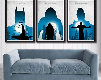 Batman Trilogy Poster Set