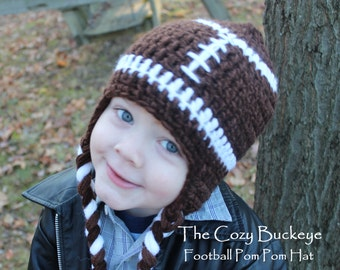 Football Hat Sports Character Hat Sizes Newborn to Adult