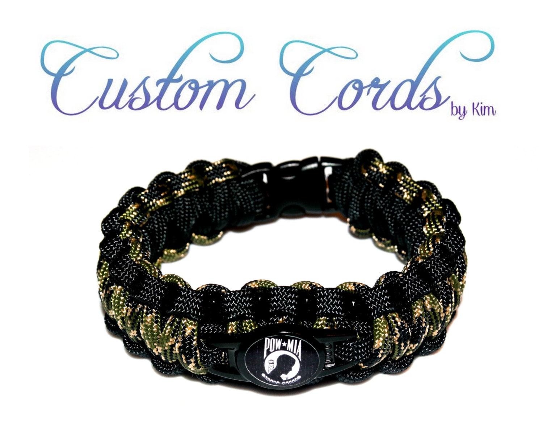 custom paracord bracelet pow survival by kimscustomcords