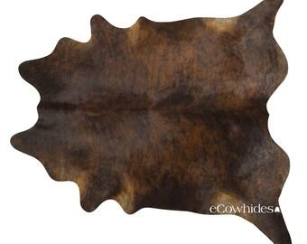 dark brindle brazilian cowhide rug cow hide rugs large