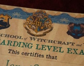 Personalised Hogwarts O.W.L's Certificate PDF DOWNLOAD for self printing