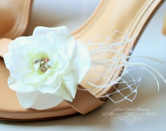 Bridal Shoe Clips , Rhinestone shoe clips,Shoe Clips,wedding shoe clips, feather shoe clipsvintage wedding