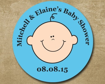 Baby Boy Shower Stickers, Personalized Baby Shower Stickers, Baby Shower Invites, Shower Favor Stickers, Baby Shower Favors