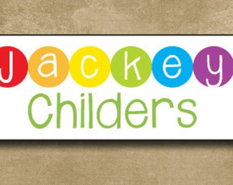 Waterproof Labels, Personalized Camp Stickers, Dishwasher Safe Labels, Rainbow Stickers, Permanent Stickers, Back to School Stickers,